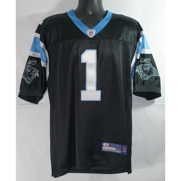 buy popular ac81c ba1fa Carolina Panthers Cam Newton Jersey Reebok Size L